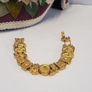 Vintage Western Theme Charm Bracelet